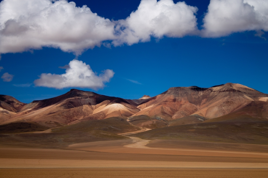 Road, Desert, Mountains, Bolivia