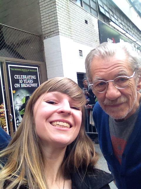 Selfie with Sir Ian