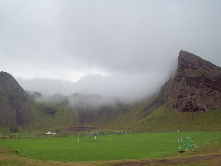 Foggy Campsite, Vestmannaeyjar