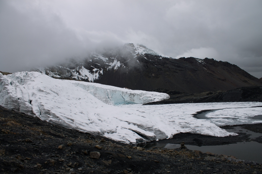 Edge of Pastoruri Glacier