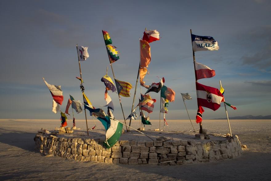 Flags, Salar de Uyuni