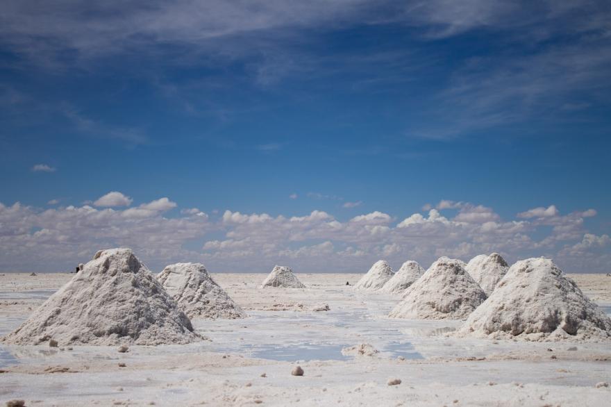 Salt Piles, Salar de Uyuni