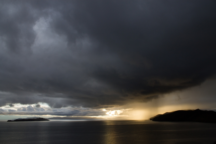 Storm on Lake Titicaca