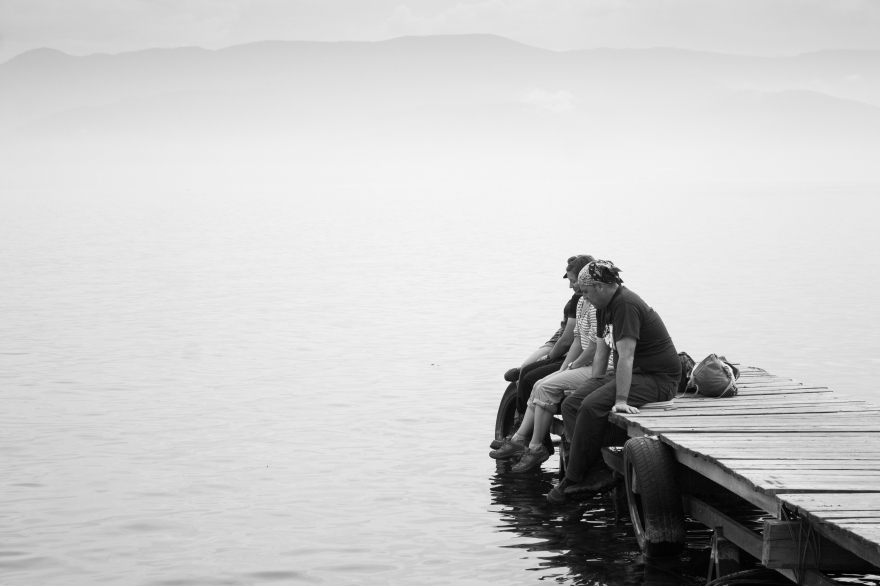 Dock on Lake Baikal