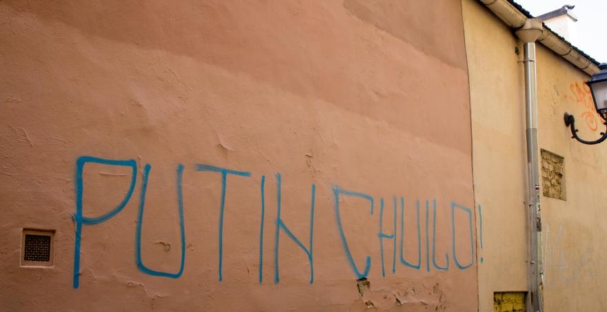 Putin Huilo Graffiti, Vilnius