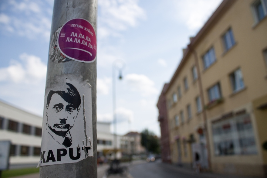 Anti-Putin Stickers, Vilnius