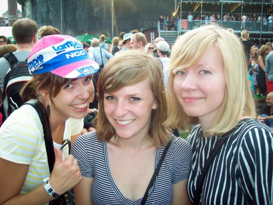 Friends at Flow Festival