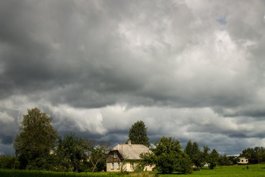 Storm above Sigulda