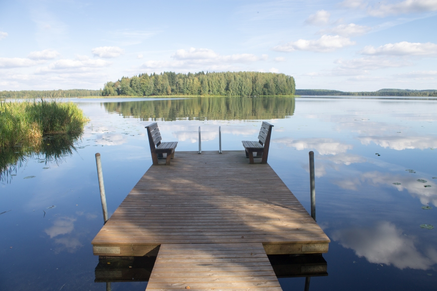 Dock on a Lake, Finland