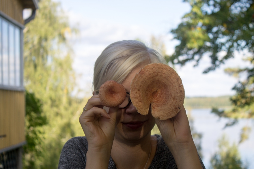 Elina with Pink Mushrooms