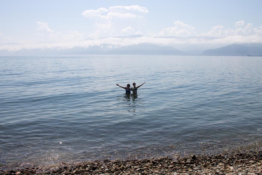 In Lake Baikal