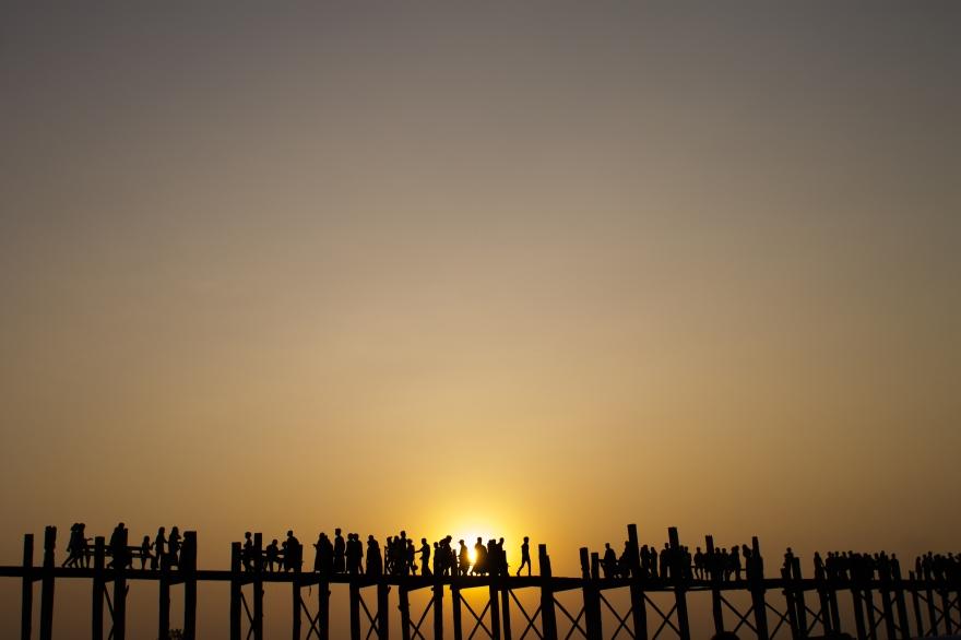 Sunset over U Bein Bridge