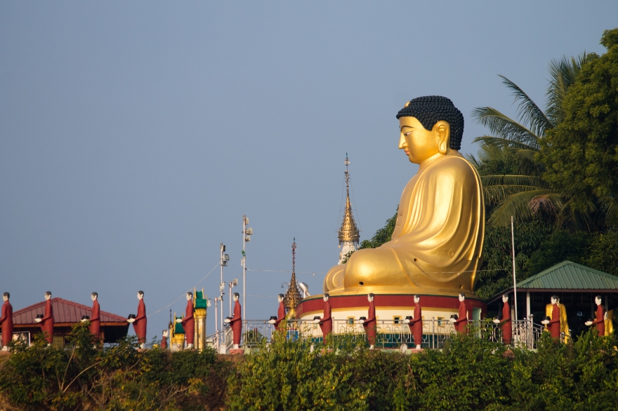 Buddha on the Ayeyarwady