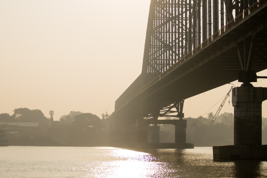 Bridge over the Ayeyarwady