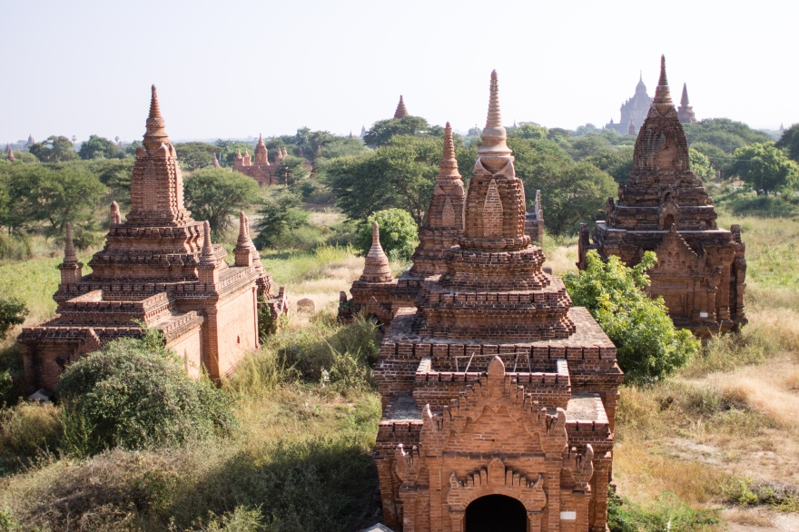 Bagan Temples from Above