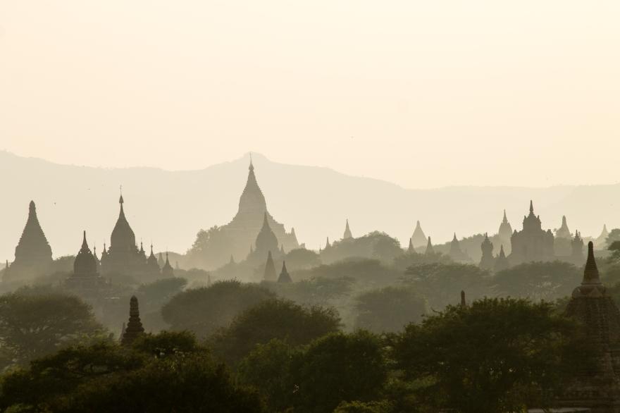 Dusk at Bagan