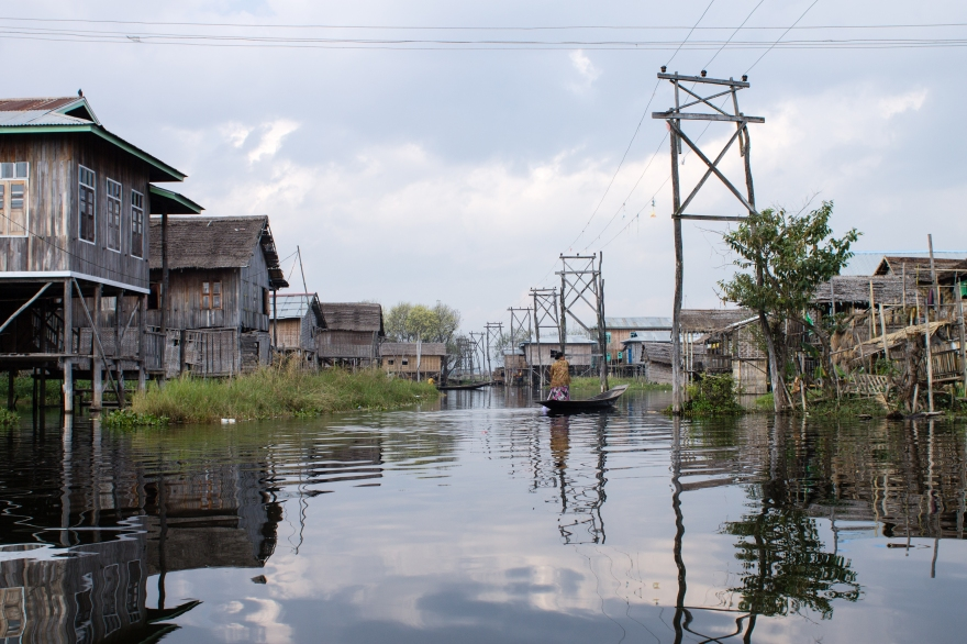 Village on Lake Inle
