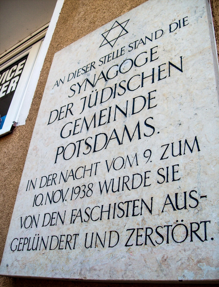Potsdam Synagogue Memorial Plaque