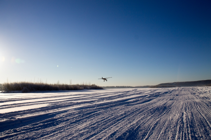 Plane over the Chena River