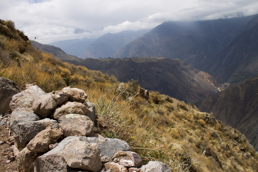 Climbing out of Colca Canyon, Peru
