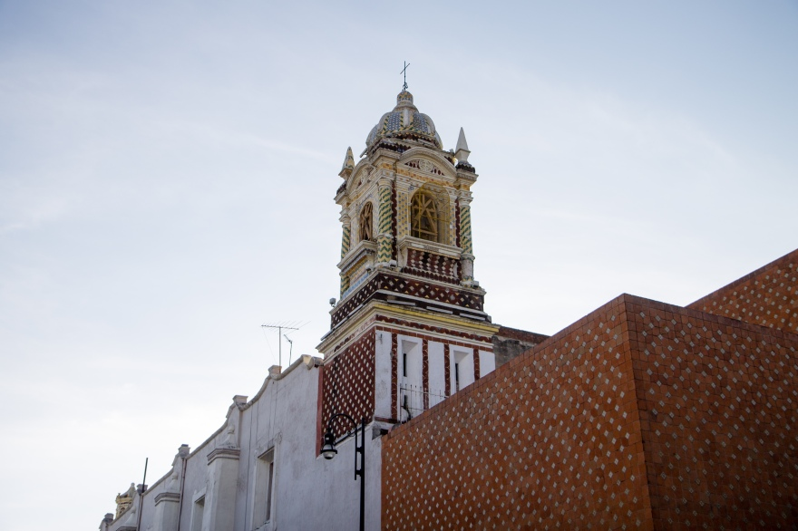 Cathedral and Wall in Puebla