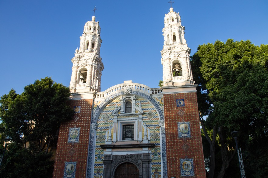Church and trees, Puebla