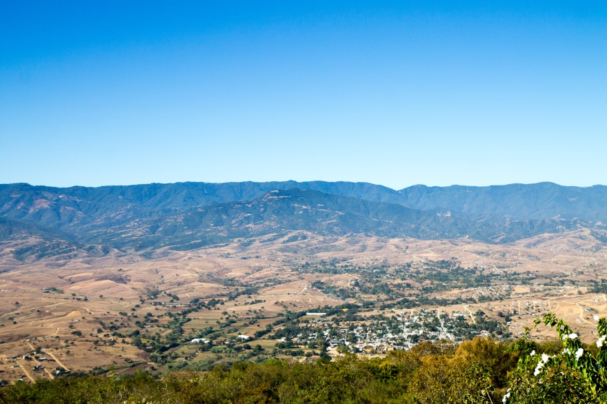 View of Oaxaca from Monte Albán