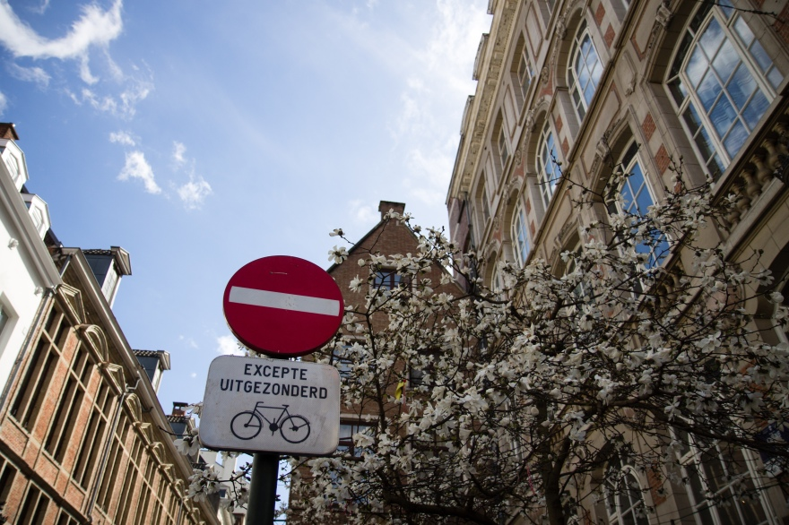 Brussels Bike Sign