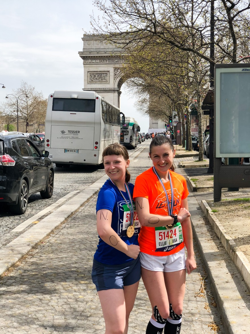 Ellie and I post-Paris marathon