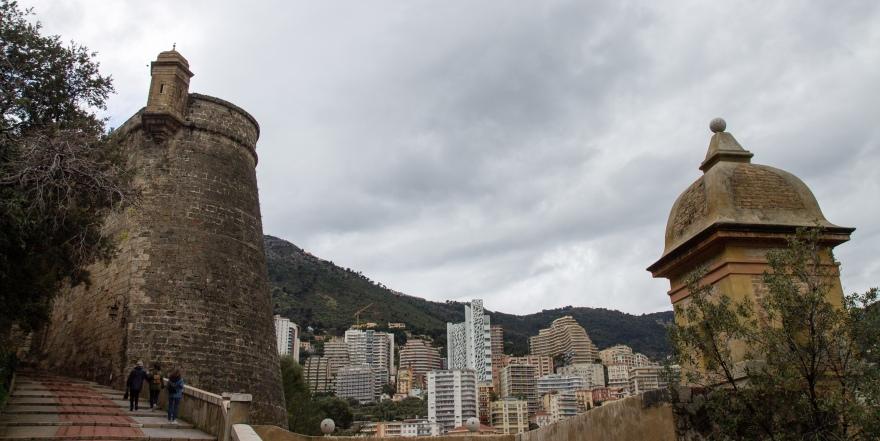 Climbing to Monaco-Ville