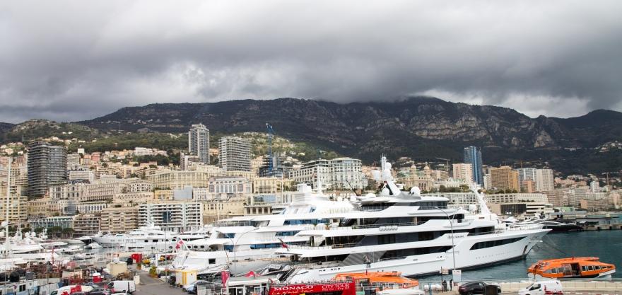 Mega-yachts in Monaco