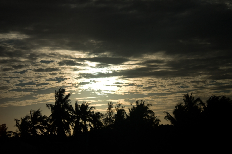 Sunset north of Mombasa