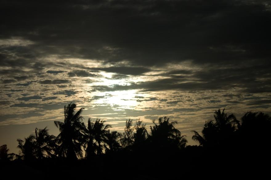 Sunset north of Mombasa
